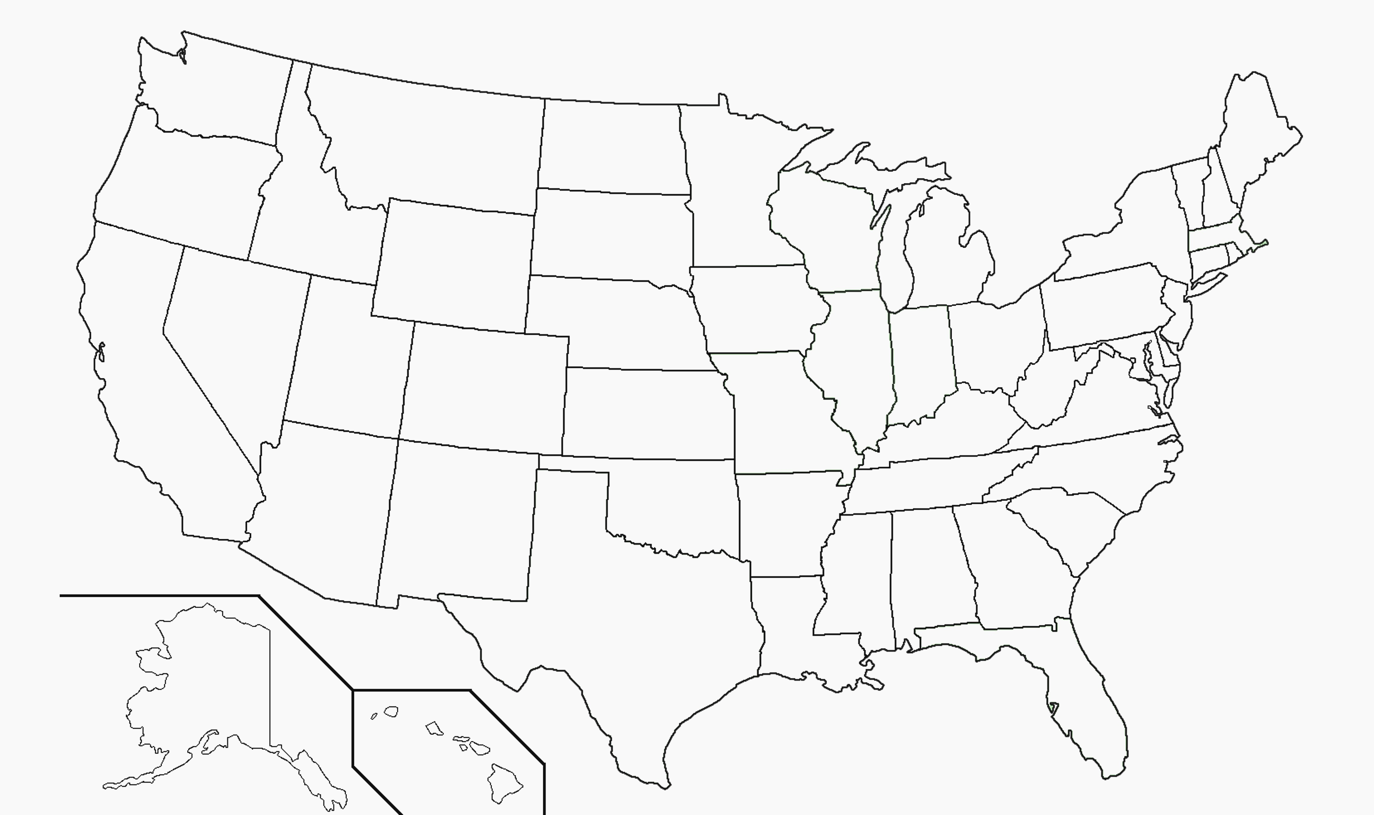 Free Printable Us Map Blank Usa52Blankbwprint Unique Amazing United - Free Printable Map Of The United States