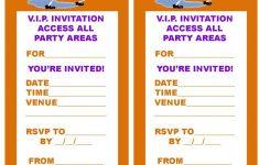 Free, Printable V.i.p. Ticket Style Spongebob Party Invitations - Spongebob Free Printable Invitations