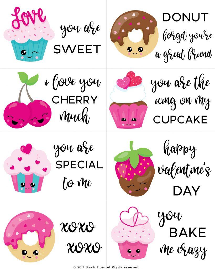 Free Printable Valentine Cards For Kids - Sarah Titus - Free Printable Childrens Valentines Day Cards