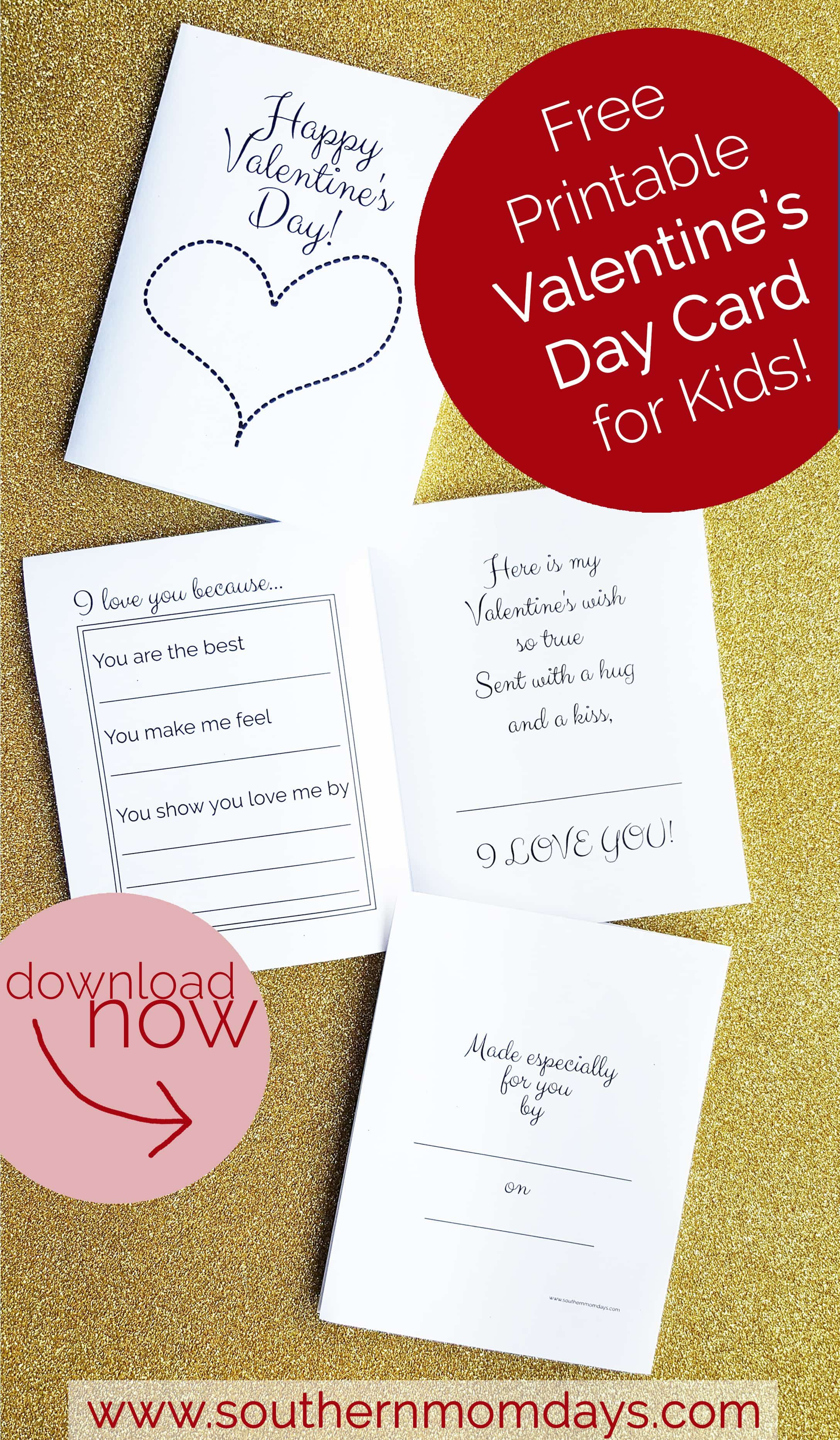 Free Printable: Valentine's Day Card For Kids | Valentine's Day - Free Printable Valentines Day Cards For Mom And Dad