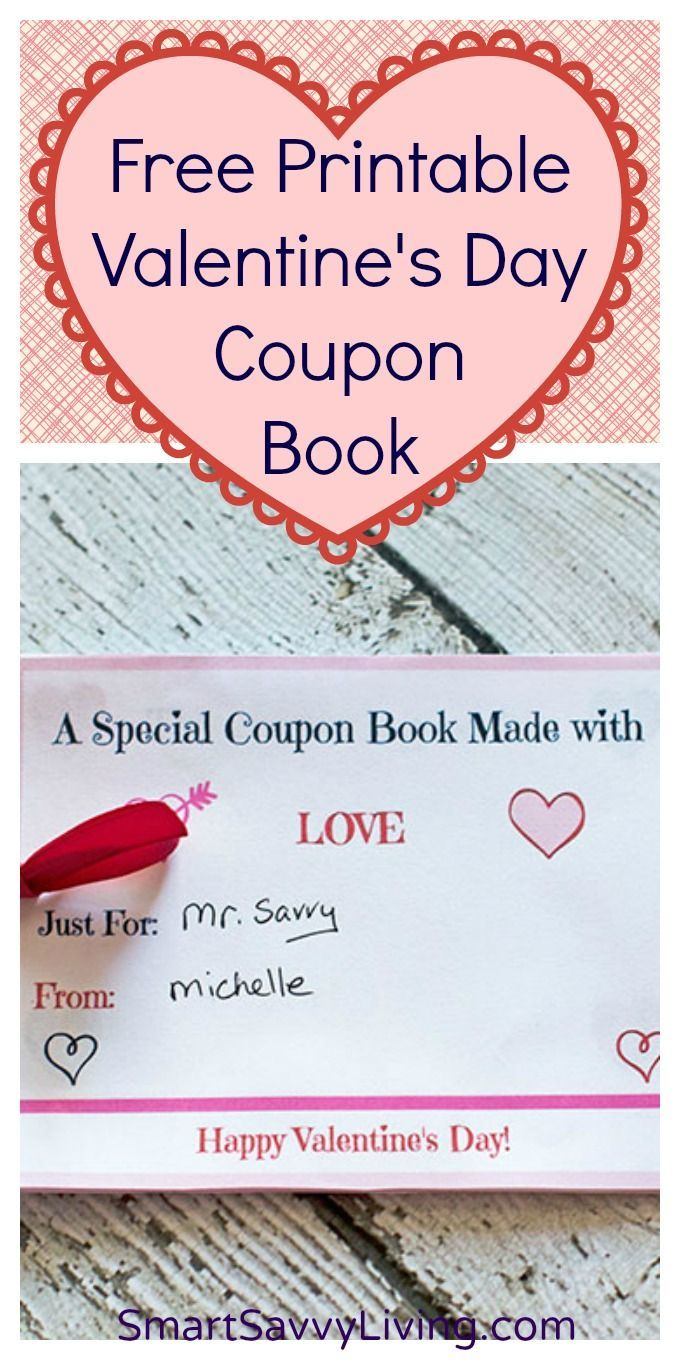 Free Printable Valentine's Day Coupon Book With Customizable Sheets - Free Printable Valentine Books