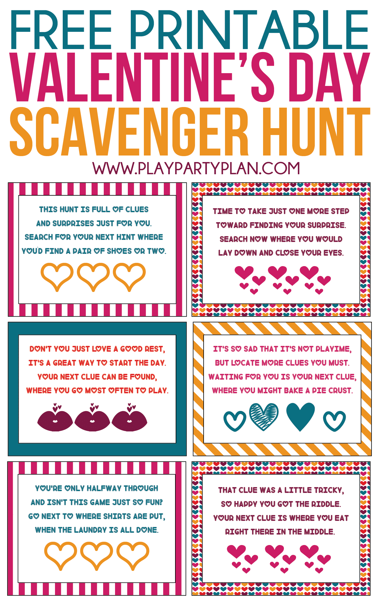 Free Printable Valentine's Day Scavenger Hunt Kids & Adults Will Love - Free Printable Valentine Games For Adults