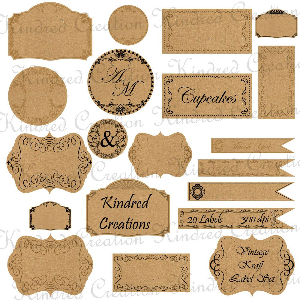 Free Printable Vintage Paper Label Tags | Halloween | Price Labels - Free Printable Price Labels