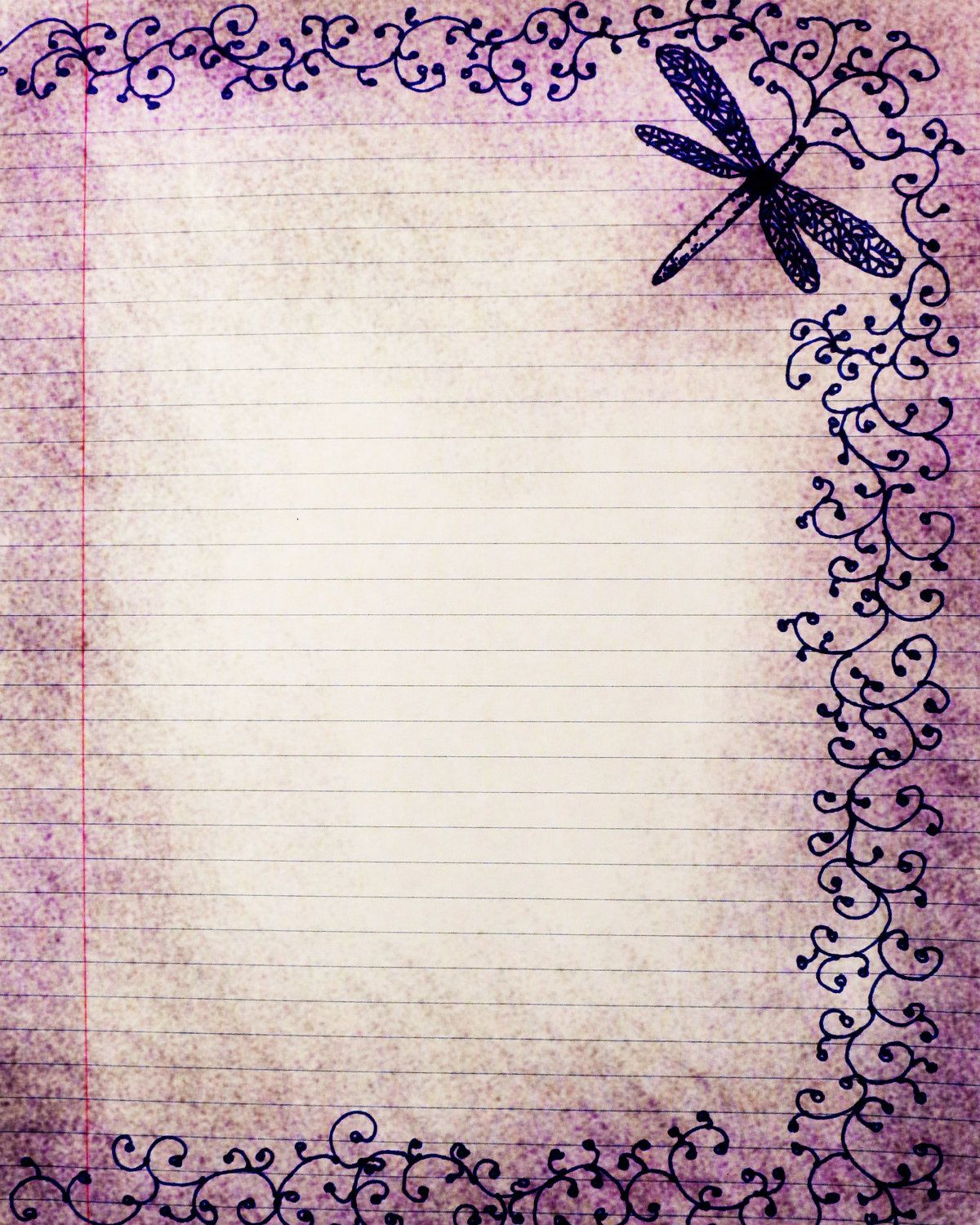 Free Printable Vintage Stationery Paper | Stationary Girls - Free Printable Journal Pages Lined