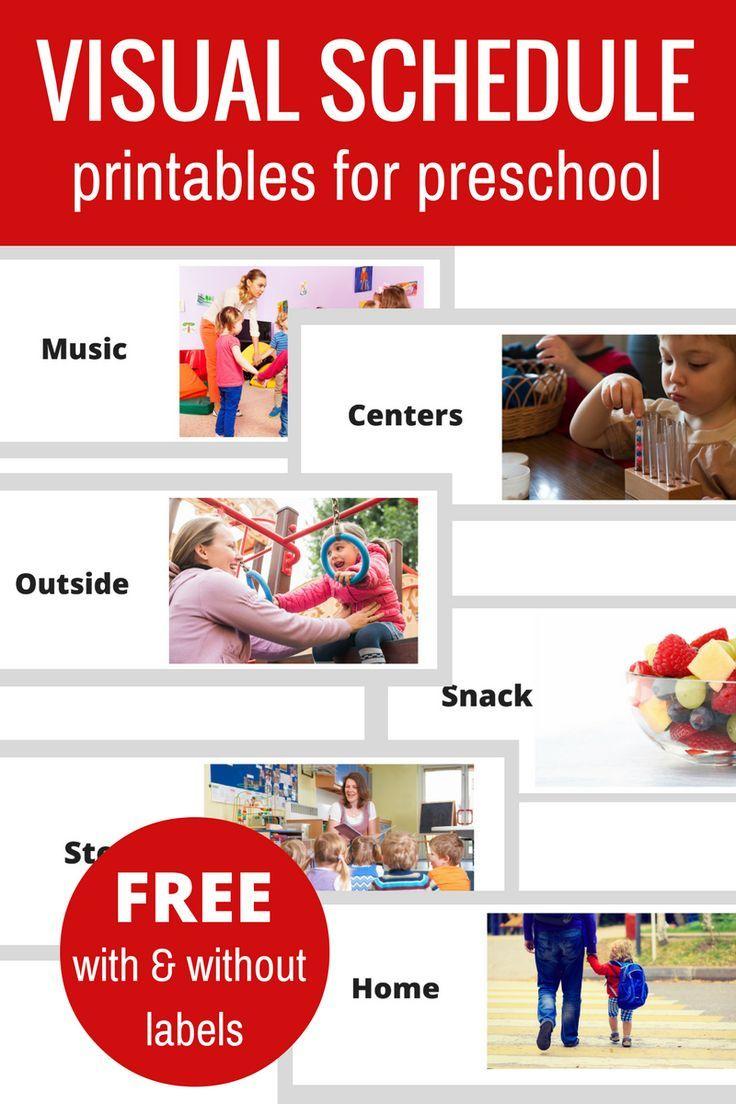 Free Printable Visual Schedule For Preschool   Daycare Kiddos - Free Printable Visual Schedule For Preschool