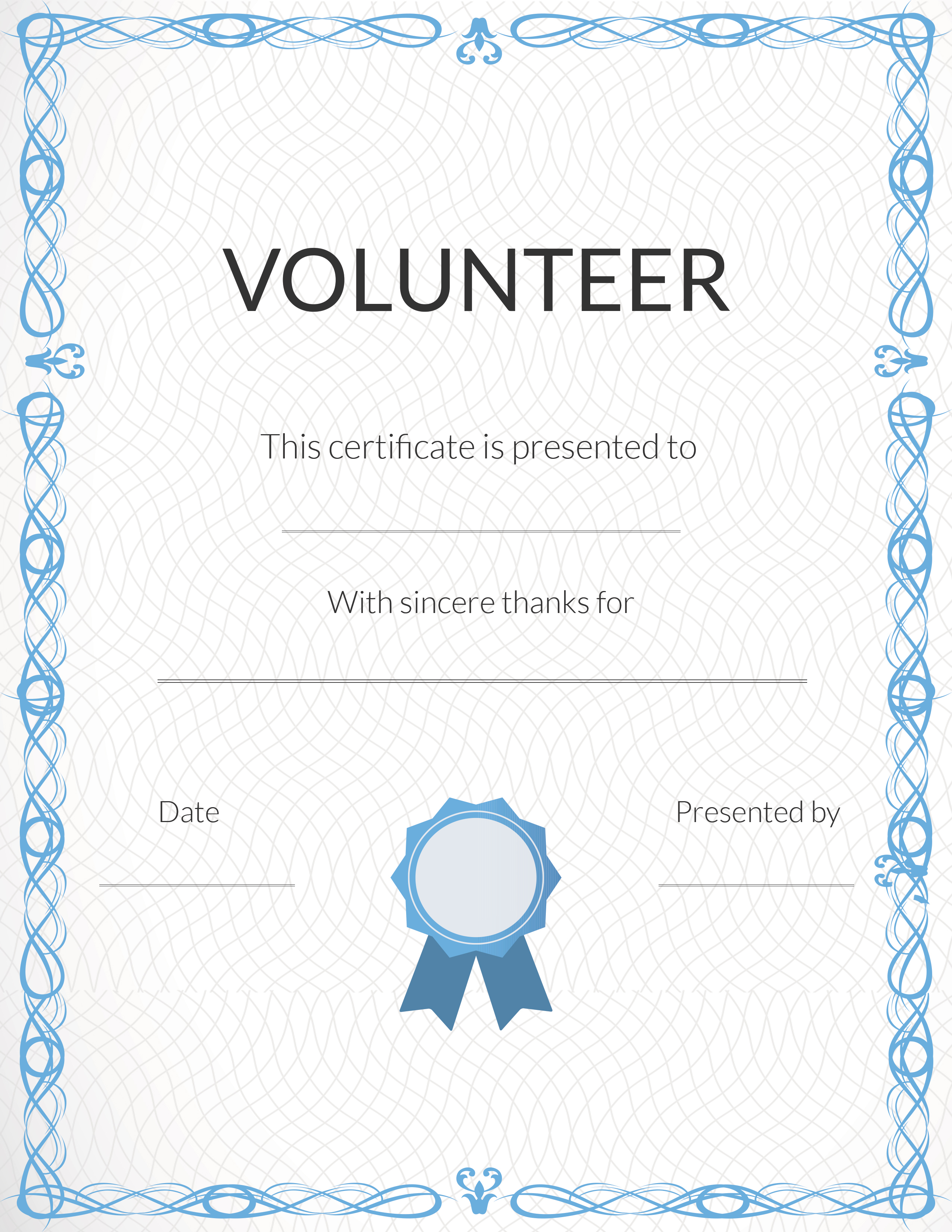 Free Printable Volunteer Appreciation Certificates | Signup - Free Printable Certificates For Teachers