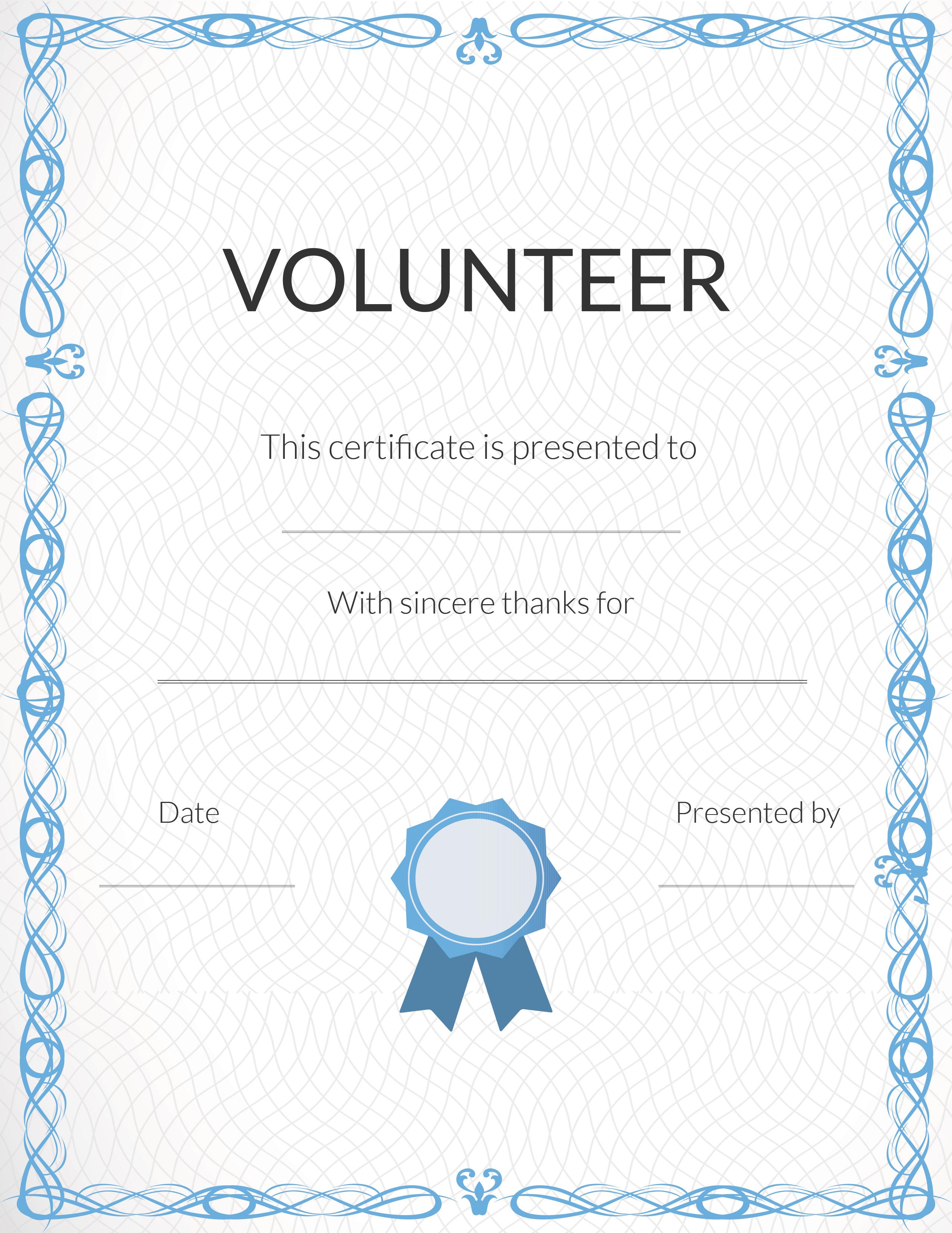 Free Printable Volunteer Appreciation Certificates | Signup - Free Printable Swimming Certificates For Kids