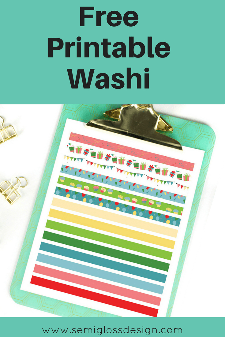 Free Printable Washi Tape For August - Semigloss Design - Free Printable Washi Tape