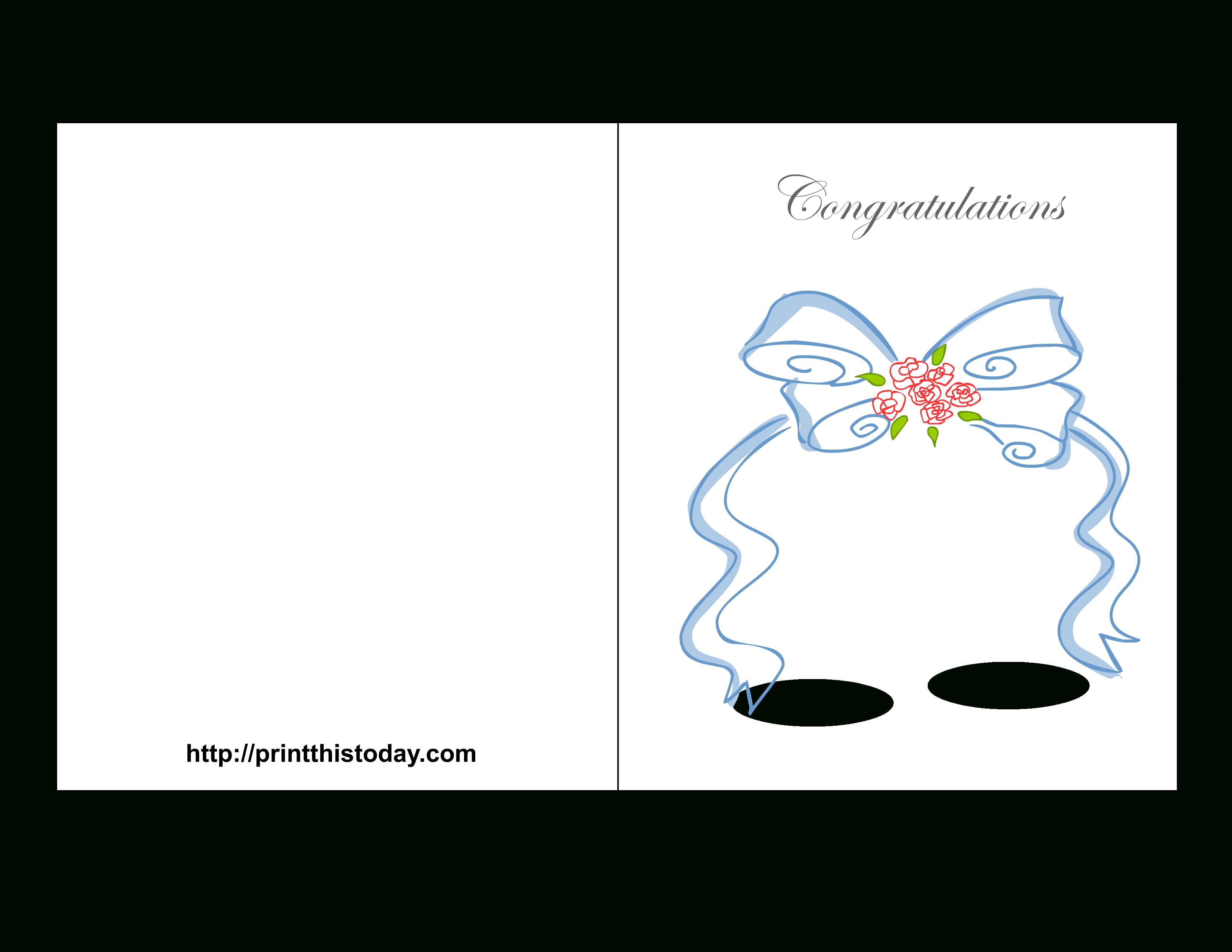 Free Printable Wedding Congratulations Cards - Free Printable Wedding Shower Greeting Cards