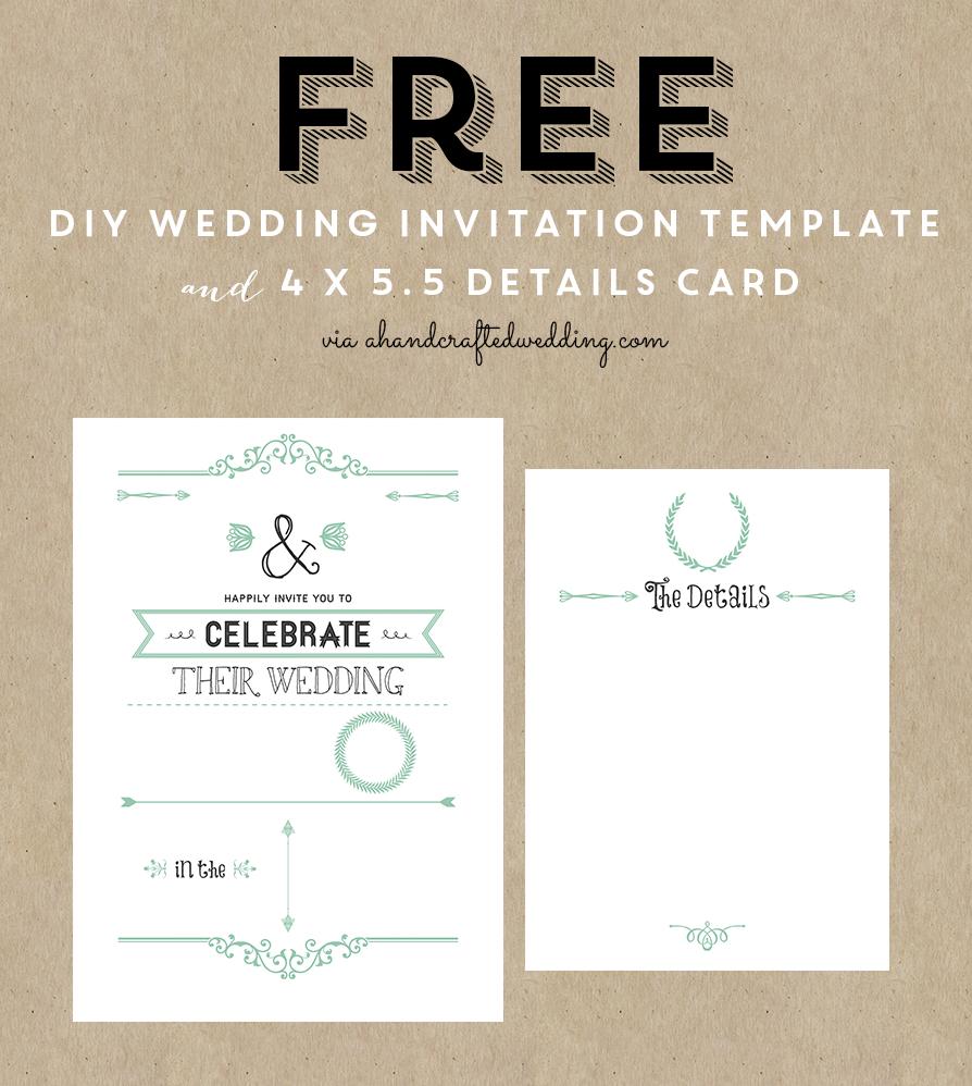Free Printable Wedding Invitation Template   ** All Things Wedding - Free Printable Wedding Inserts