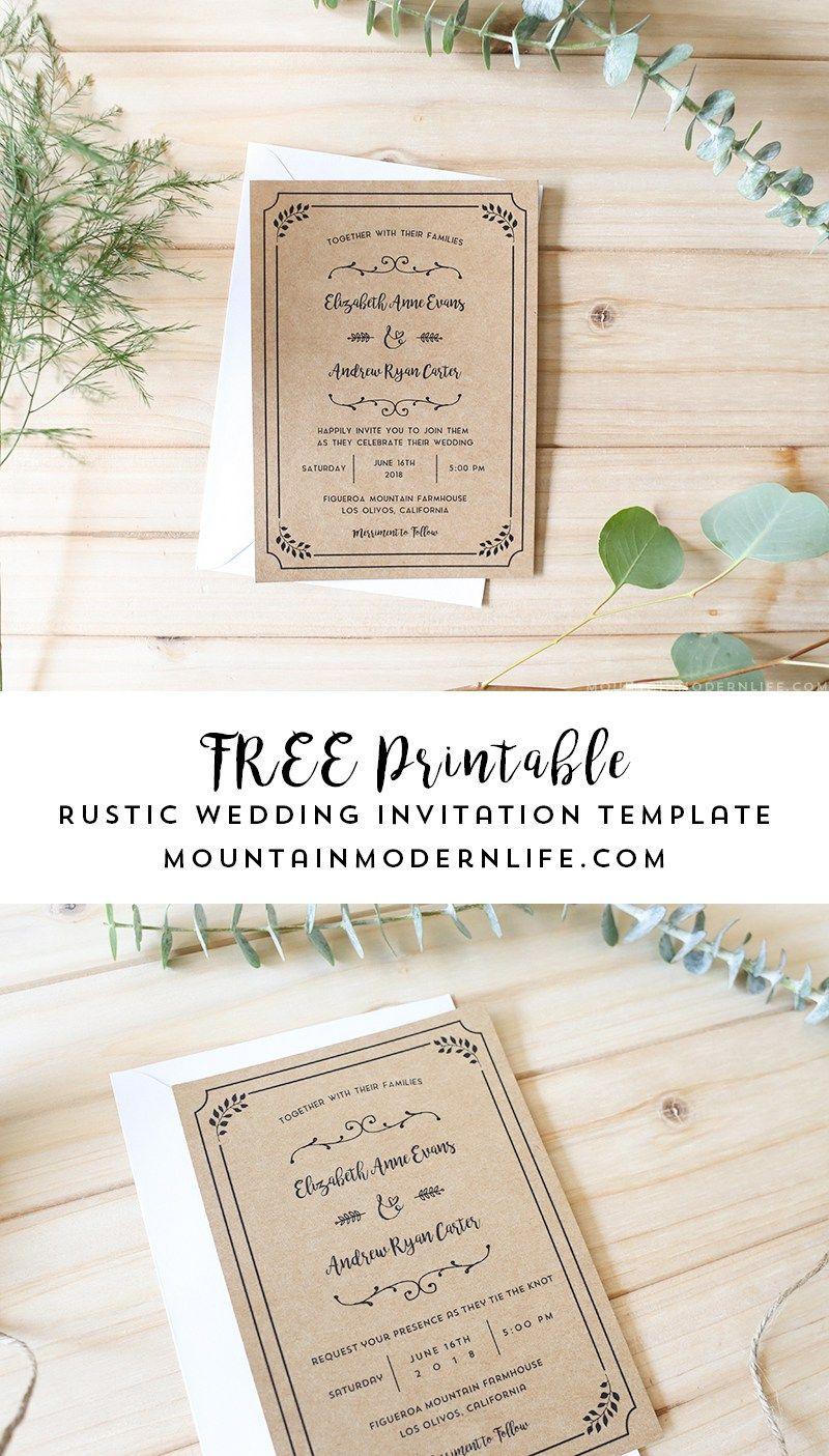 Free Printable Wedding Invitation Template | | Freebies - Free Printable Wedding Invitations With Photo
