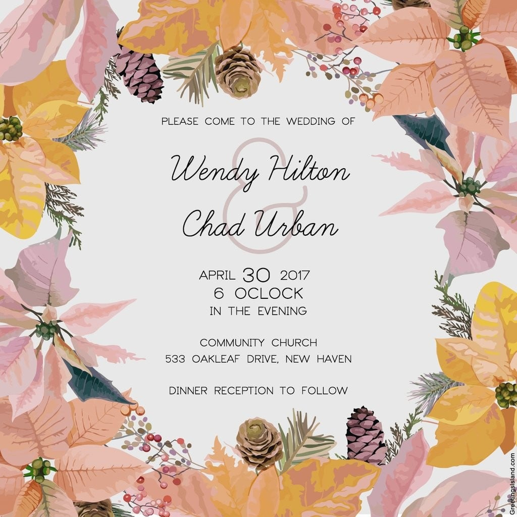 Free Printable Wedding Invitations | Popsugar Australia Smart Living - Free Printable Invitations