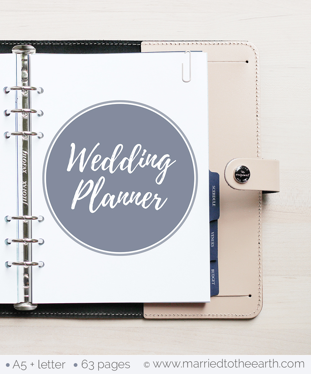 Free Printable Wedding Planner - A5 & Letter - Free Printable Wedding Inserts
