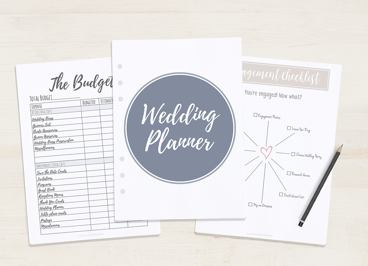 Free Printable Wedding Planner - A5 & Letter - Free Printable Wedding Planner