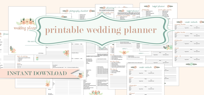 Free Printable Wedding Planner   American Dream Cakes - Free Printable Wedding Planner