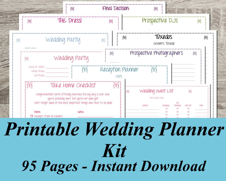 Free Printable Wedding Planner ~ Wedding Invitation Collection - Free Printable Wedding Planner Workbook