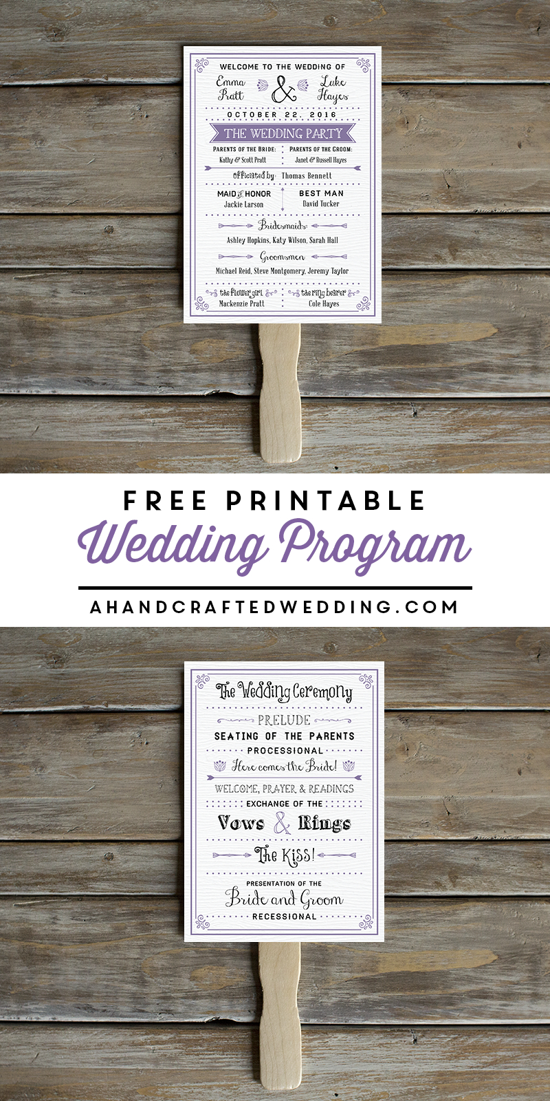 Free Printable Wedding Program | Crafty 2 The Core~Diy Galore - Free Printable Wedding Programs