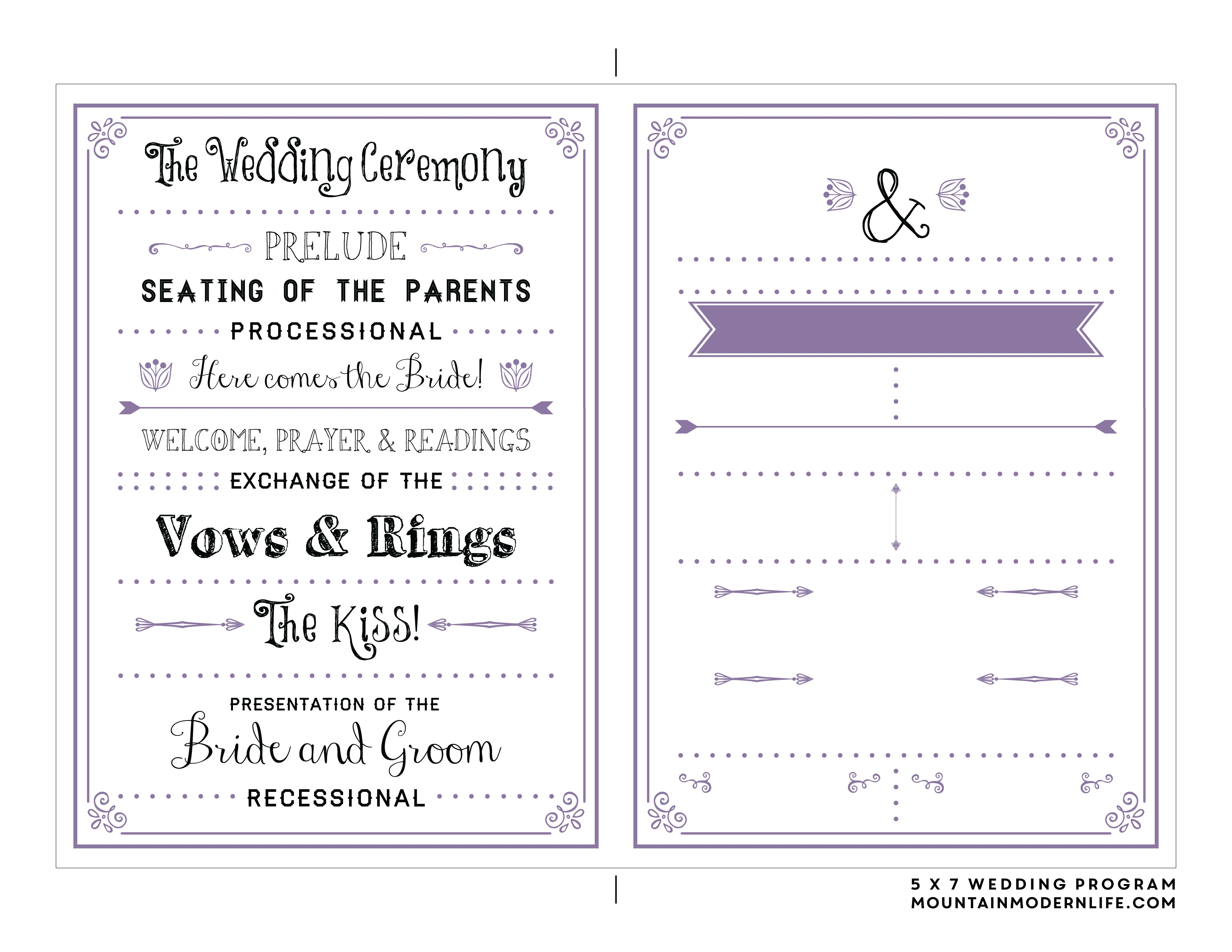 Free Printable Wedding Program Templates | Bestprintable231118 - Free Printable Wedding Program Templates