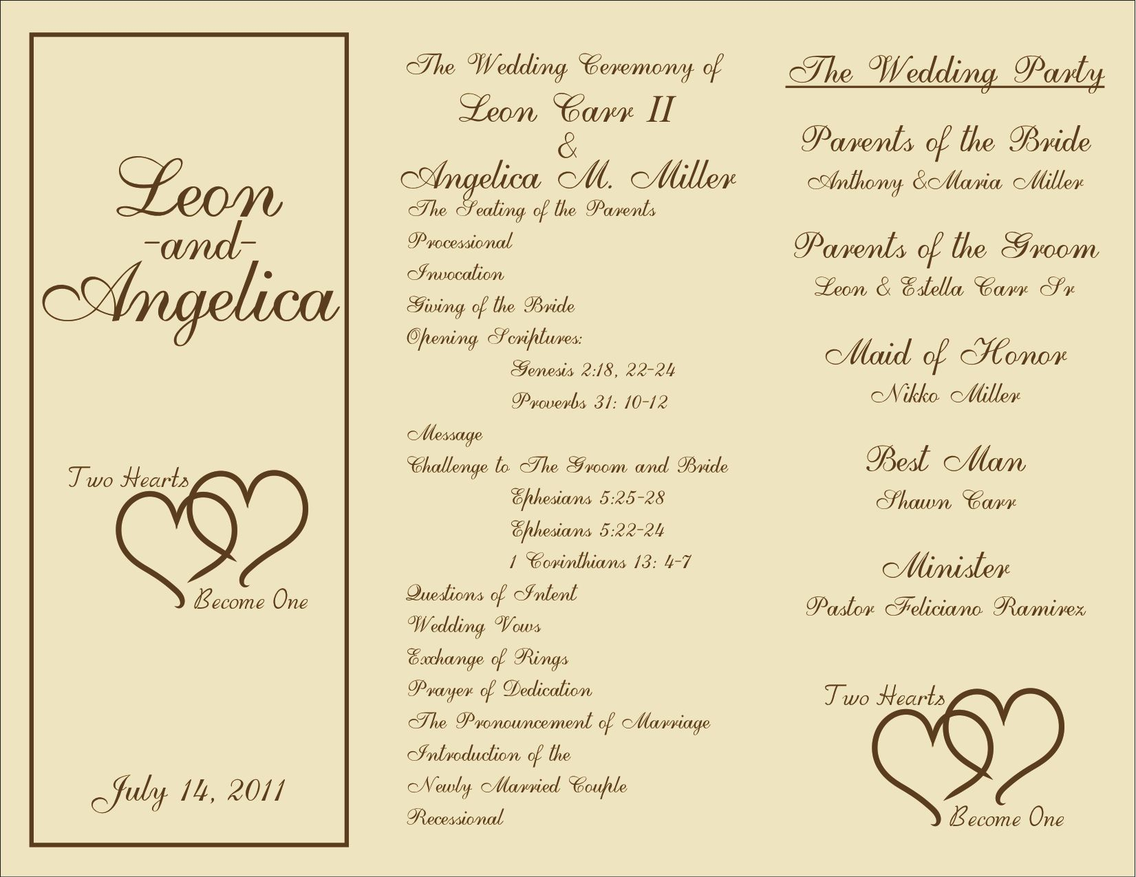 Free Printable Wedding Programs Templates | : Sample Wedding - Free Printable Wedding Programs