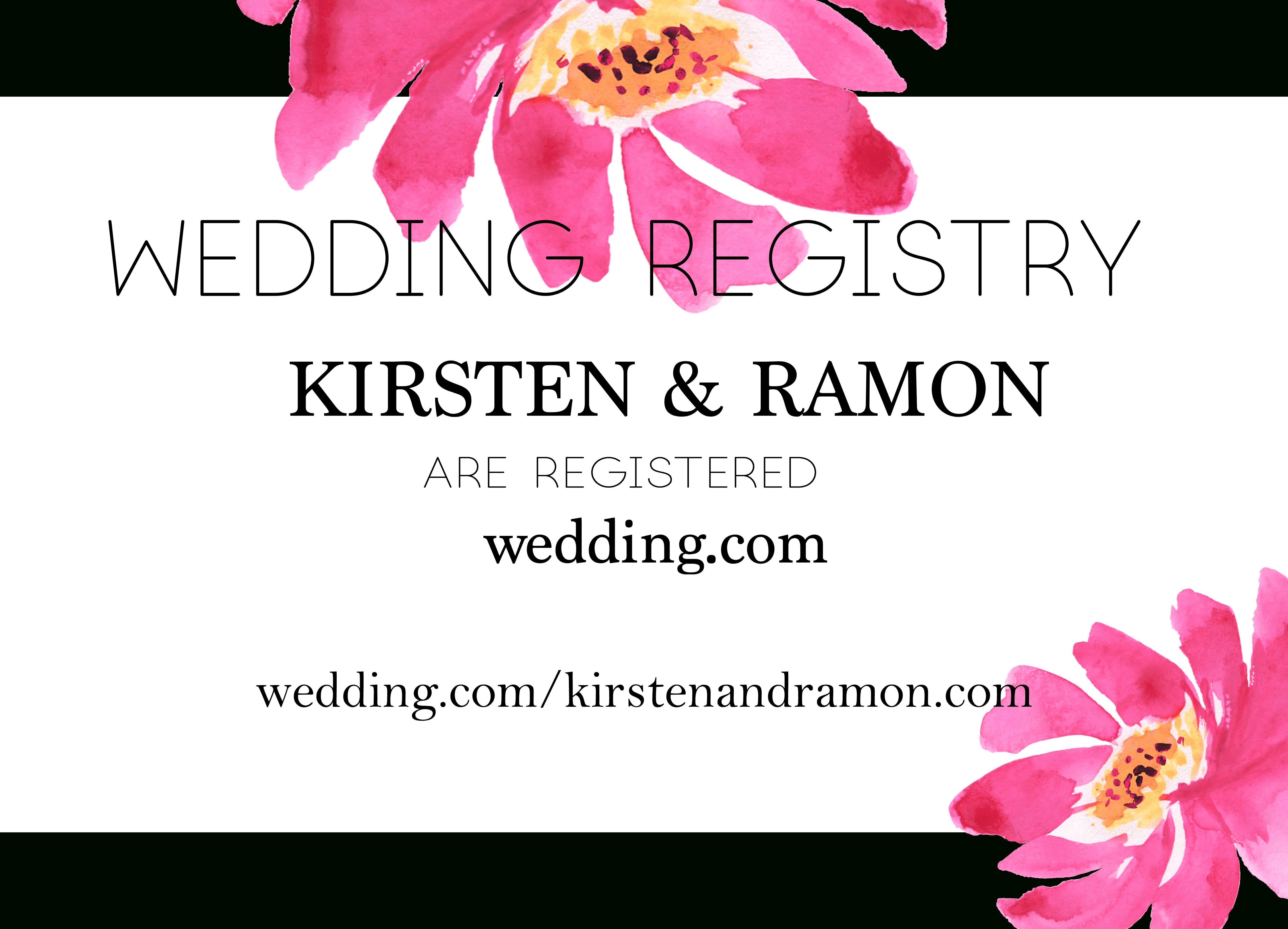 Free Printable Wedding Registry Card That Is Easily Downloaded - Free Printable Registry Cards