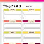 Free Printable Weekly Planner   Weekly Planner Printable!   Planner Printable Free
