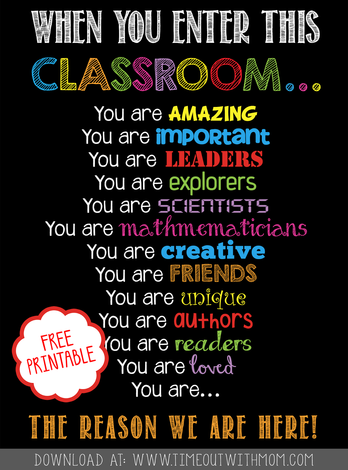 Free Printable - Welcome Back To School, Classroom Printable For - Free Printable Welcome Back Signs For Work