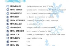 Free Printable Winter Game Match The Snow Facts Download | Winter – Free Holiday Games Printable