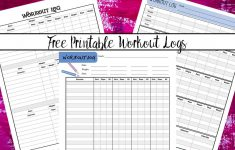Free Printable Workout Logs: 3 Designs For Your Needs – Free Printable Workout Log