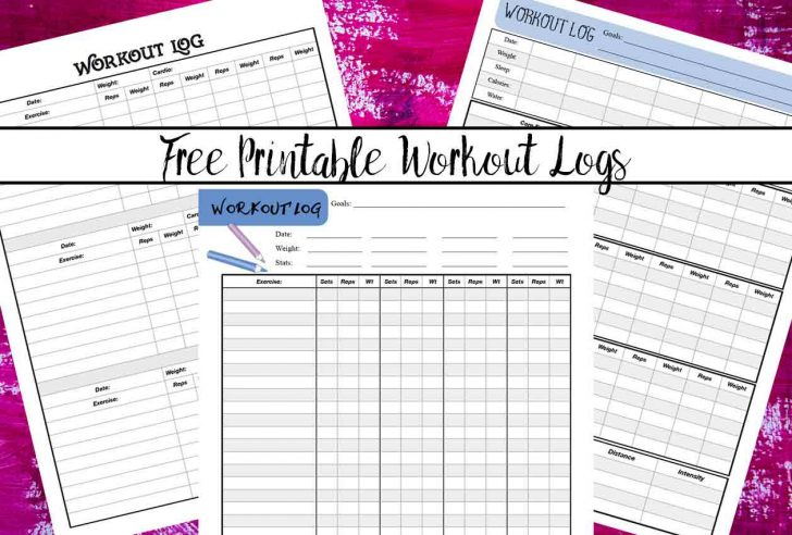 Free Printable Workout Log
