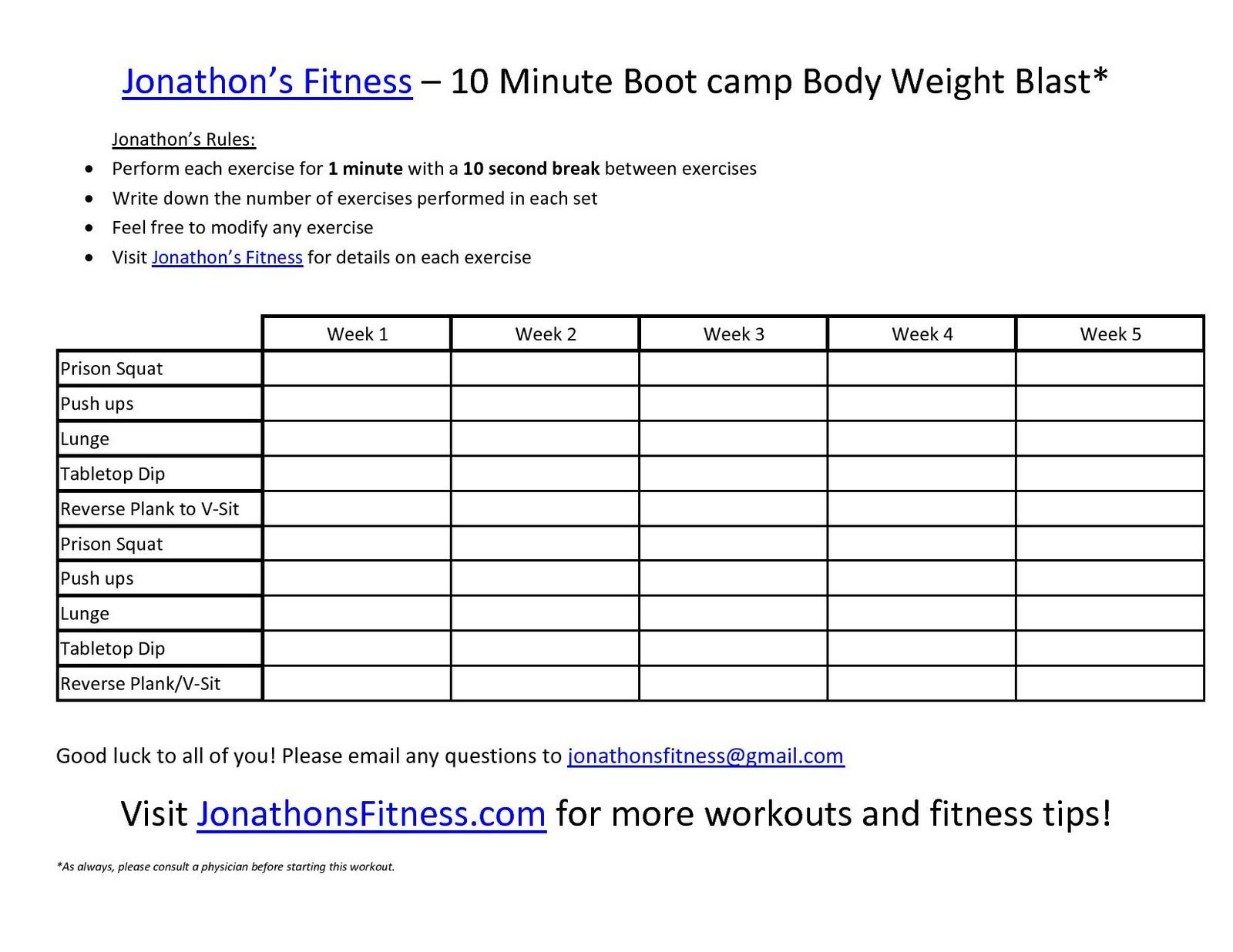 Free Printable Workout Routines . | Fitness Programs | Workout - Free Printable Workout Plans