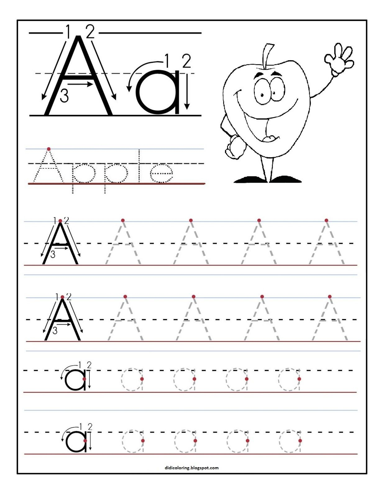 Free Printable Worksheet Letter A For Your Child To Learn And Write - Free Printable Preschool Worksheets For The Letter R