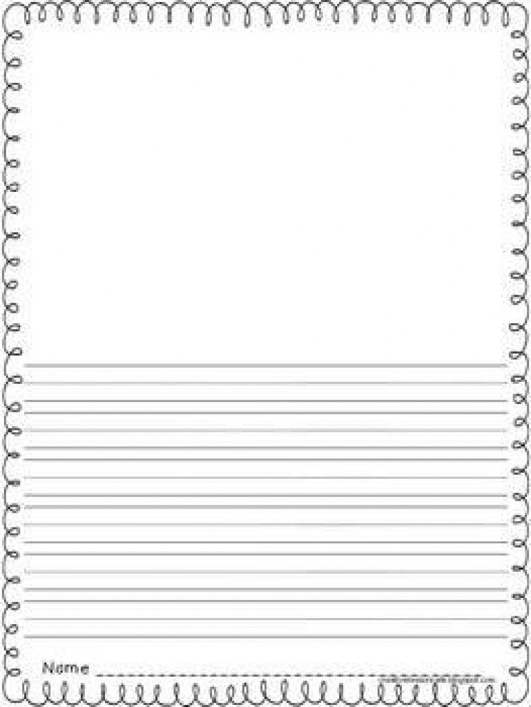 Free Printable Writing Paper With Picture Box   Free Printable - Free Printable Writing Paper With Picture Box