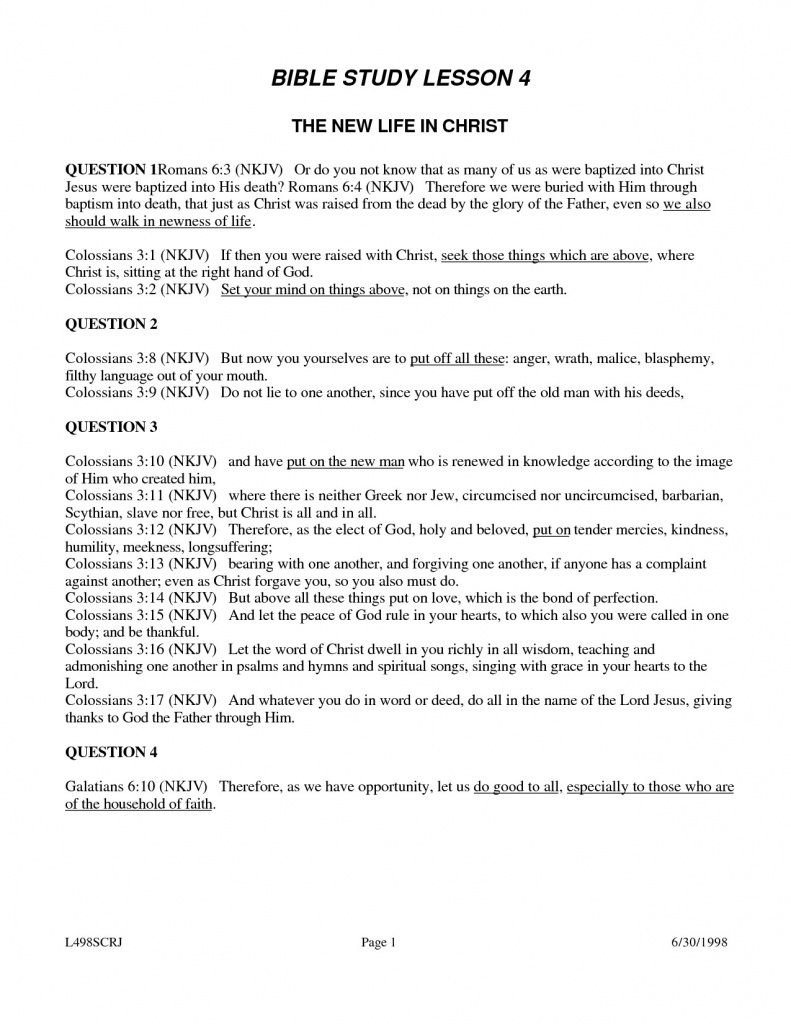 Free Printable Youth Bible Study Lessons | World Of Printable And - Free Printable Bible Study Lessons For Adults