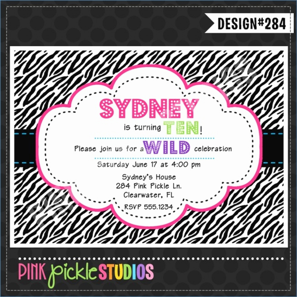 Free Printable Zebra Birthday Cards Inspirational Zebra Print Inside - Free Printable Zebra Print Birthday Invitations