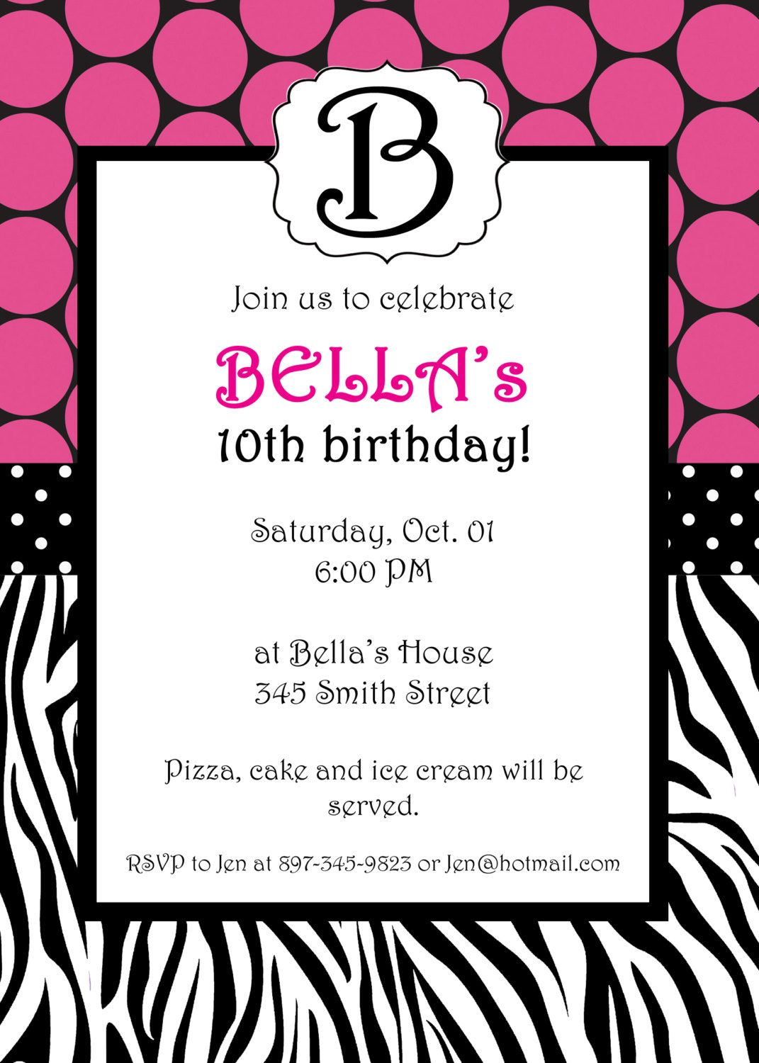 Free Printable Zebra Print Invitations Baby Shower | Emma - Free Printable Zebra Print Birthday Invitations