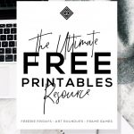 Free Printables • Design & Gallery Wall Resources • Little Gold Pixel – Free Printable Artwork To Frame
