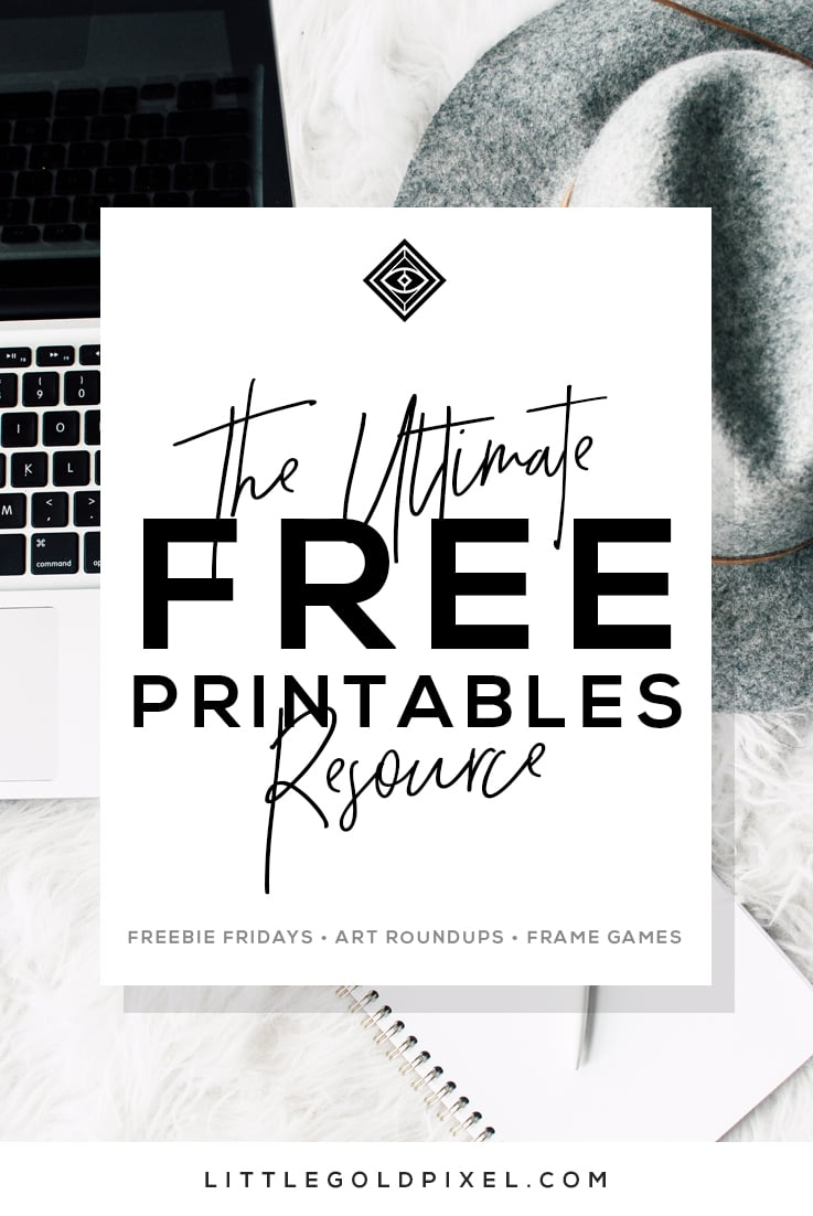 Free Printables • Design & Gallery Wall Resources • Little Gold Pixel - Free Printable Wall Art Prints
