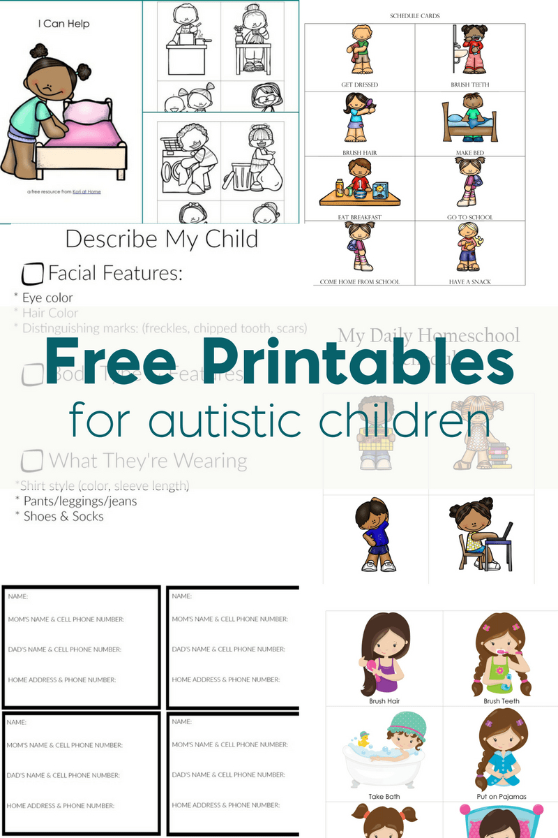 Free Printables For Autistic Children And Their Families Or Caregivers - Free Printable Social Stories Worksheets