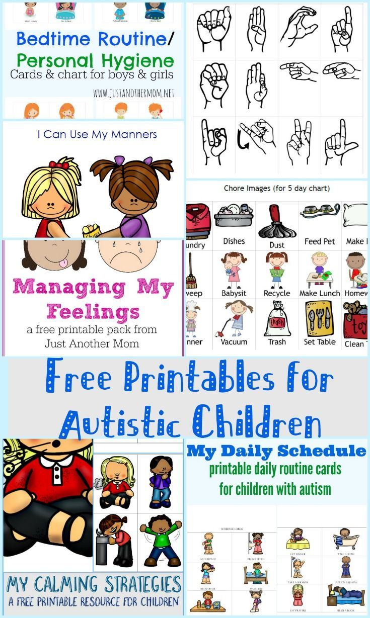 Free Printables For Autistic Children And Their Families Or - Free Printable Schedule Cards