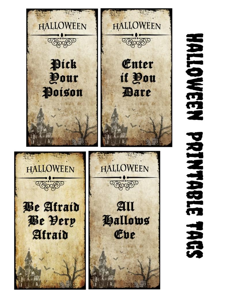 Free Printables: Halloween Vintage Tags - Craft Paper Scissors - Free Printable Vintage Halloween Images