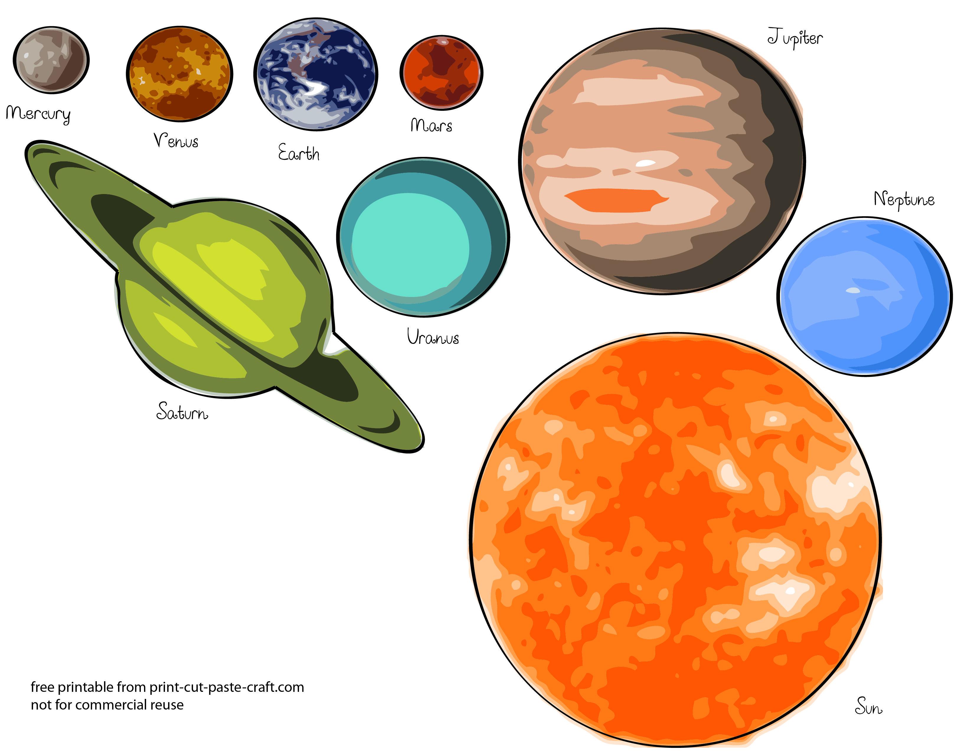 Free Printables Planets   Free Printable Solar System Model For Kids - Free Printable Solar System Worksheets