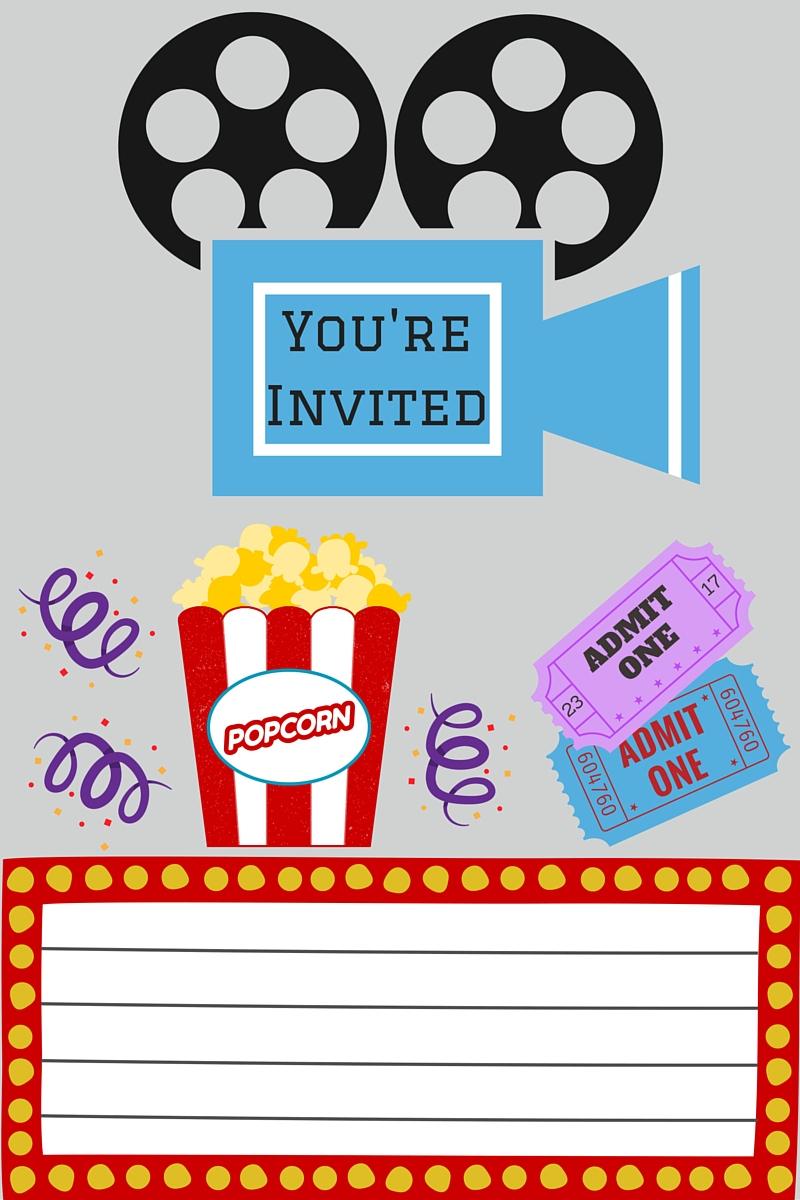 Free Printables | Printable Movie Night Invite - Free Printable Movie Tickets