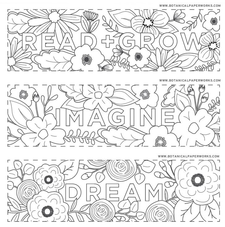 Free Printable Christmas Bookmarks To Color