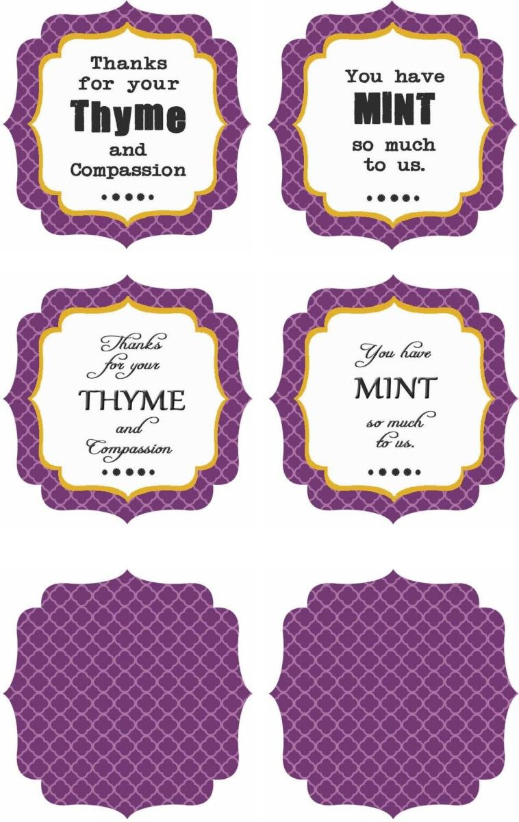 Free Printables : Thank You Labels | School Ideas | Pinterest - Free Printable Plant Labels