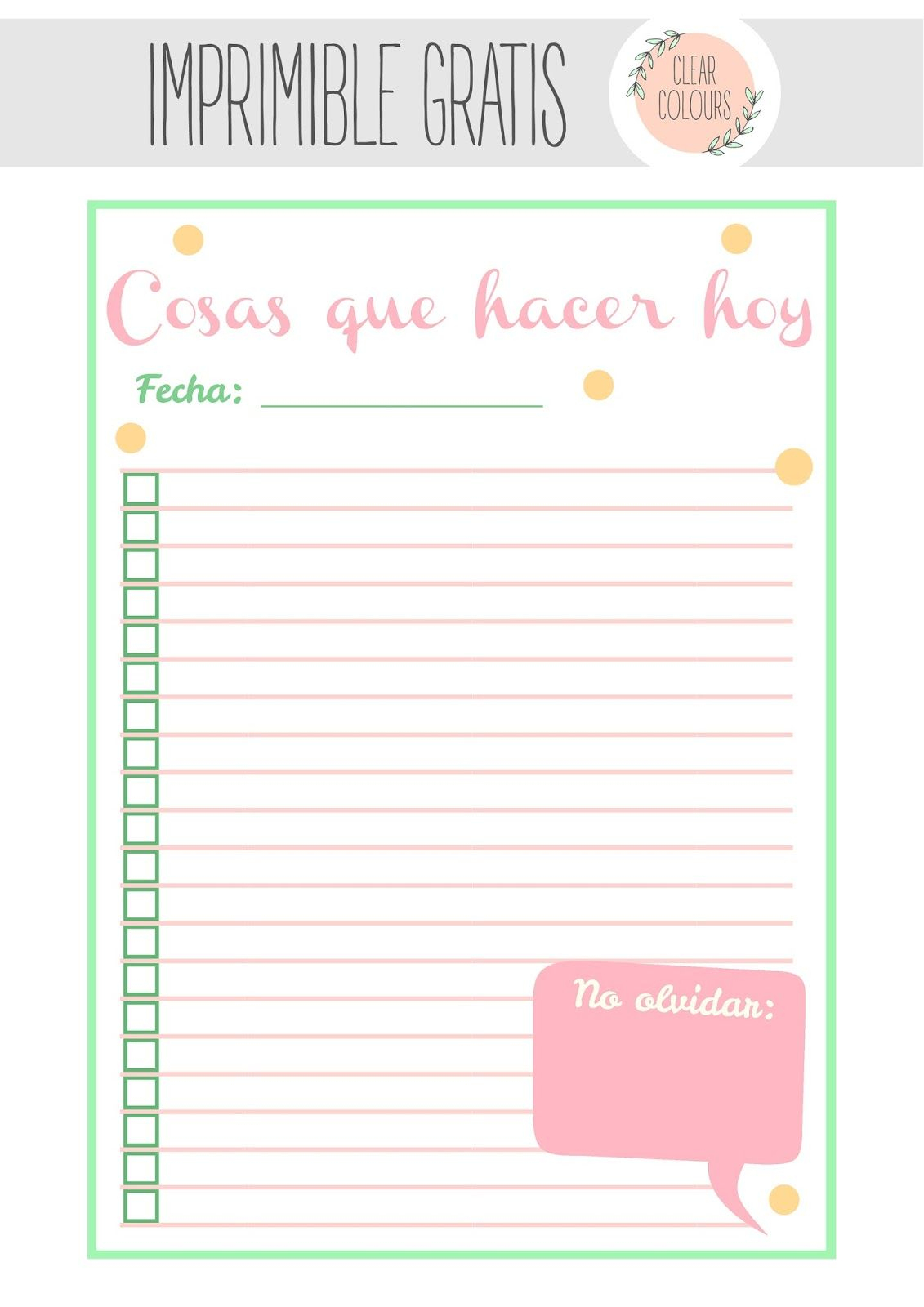 Free Printables: To Do List | Printables | Planner Pages, Kikki K - Free Printable Hoy Sheets