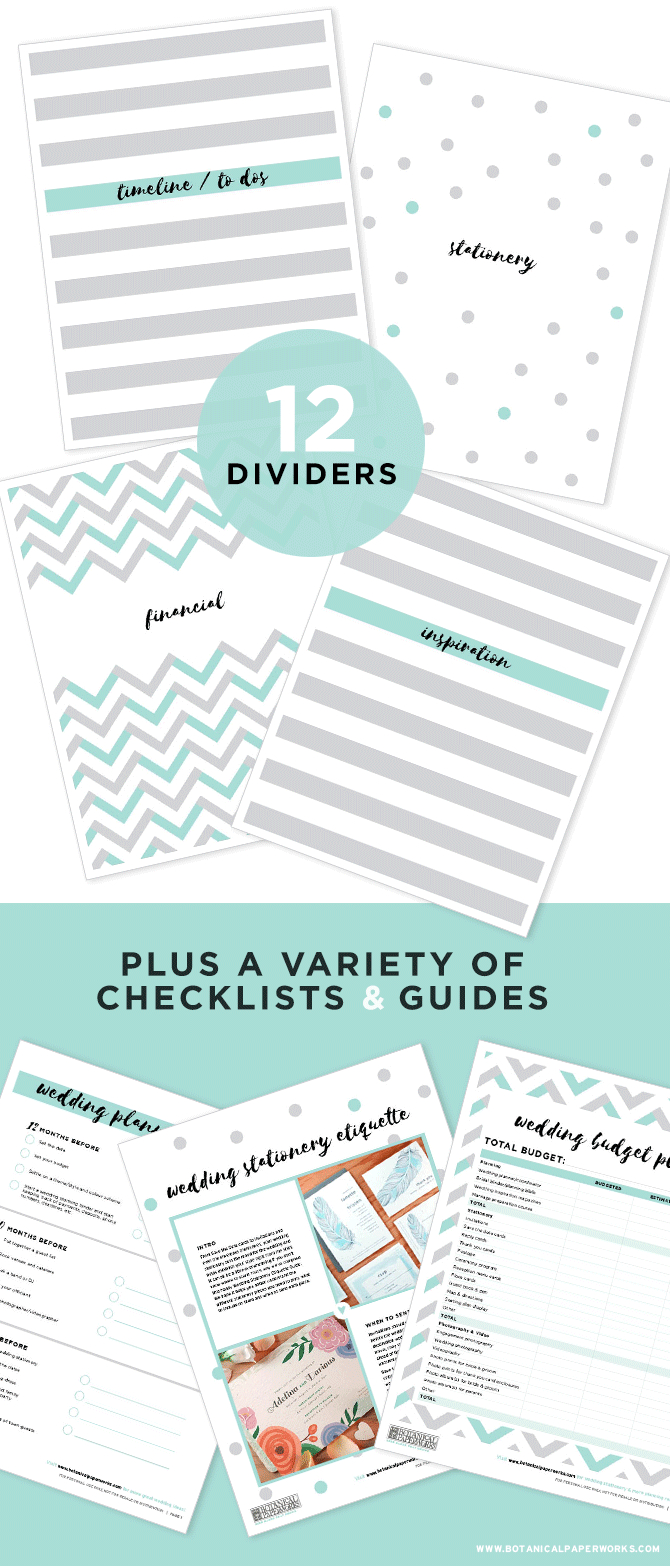 Free Printables} Wedding Planning Binder Download With New Bonus - Free Printable Binder Paper