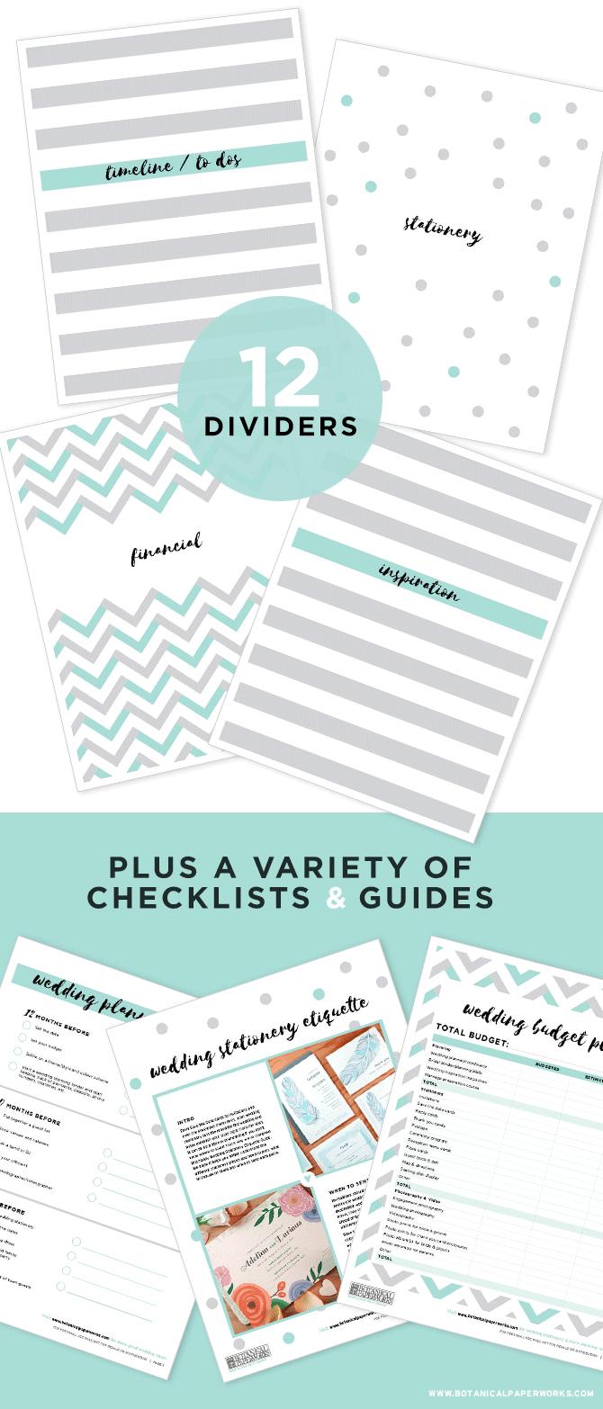 Free Printables} Wedding Planning Binder Download With New Bonus - Free Printable Wedding Binder Templates