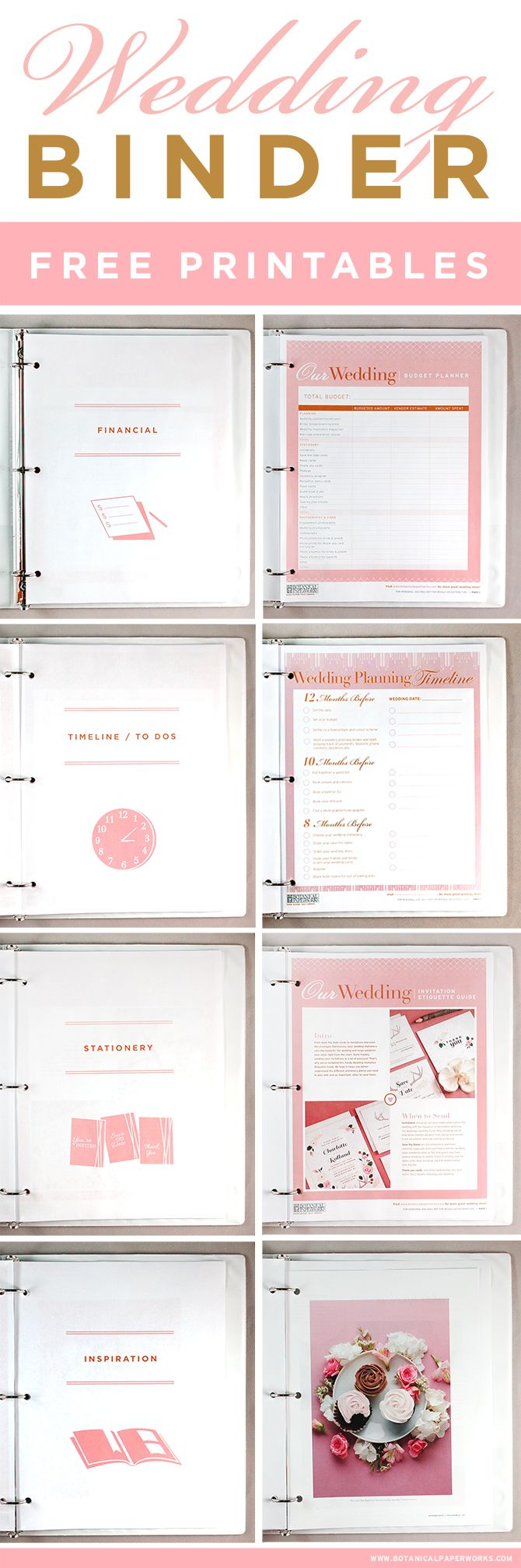 Free Printables} Wedding Planning Binder   Pinterest   Mariages - Free Printable Wedding Planner