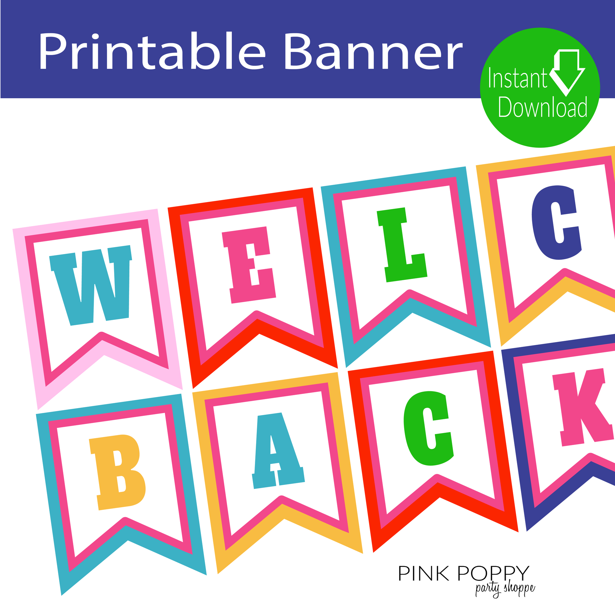 Free Printables} Welcome Back Banner | Shopify Merchant Community - Welcome Back Banner Printable Free