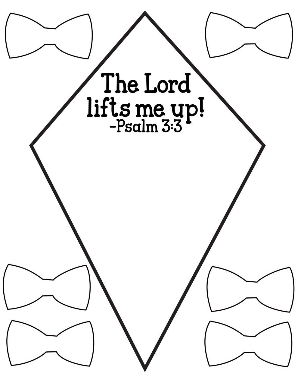 Free Psalm 3:3 Kids Bible Lesson Activity Printables - Free Printable Children's Bible Lessons